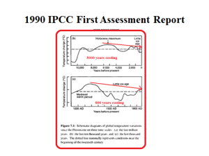 1990 IPCC first assessment report
