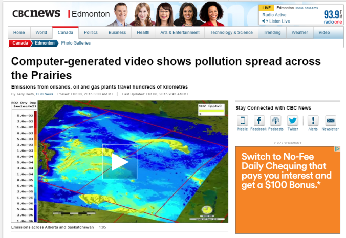 CBC edmonton pollution spread compu gen