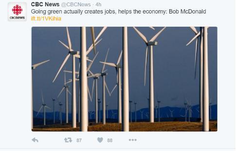 cbc going green creates jobs bob mc