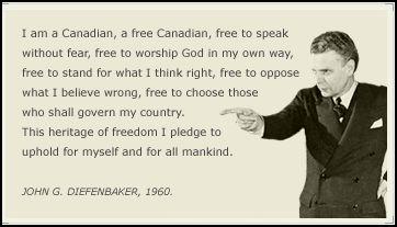 John G. Diefenbaker Free to speak quote