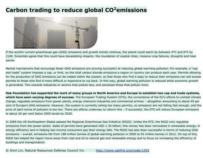oak carbon trading